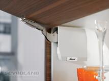 AVENTOS HK-S C TIP-ON selyemfehér felnyíló vasalat szett (köztes)
