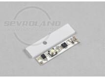Aluprofilba építhető nyomógombos kapcsoló, fényerőszabályzó max. 25W