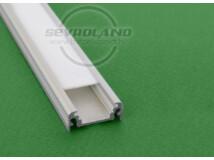 """LED szalag tartó egyenes aluprofil """"SURFACE"""" ezüst"""