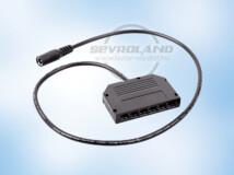 DC csatlakozós 6-os elosztó MINI vezetékhez (50 cm)