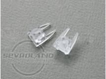 Végzáró MIKRO üvegpolc LED profilhoz (pár)