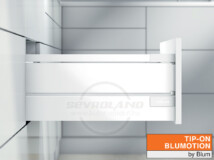 Blum TANDEMBOX Antaro D TIP-ON BLUMOTION selyemfehér fiók fémoldallal