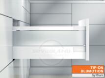 Blum TANDEMBOX Antaro D TIP-ON BLUMOTION selyemfehér fiók szatén üveggel