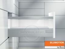 Blum TANDEMBOX Antaro D világosszürke fiók átlátszó üveggel