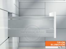 Blum TANDEMBOX Antaro D TIP-ON BLUMOTION világosszürke fiók fémoldallal