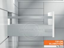 Blum TANDEMBOX Antaro D TIP-ON BLUMOTION világosszürke fiók K kávával