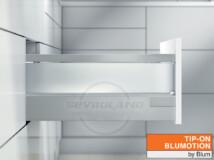 Blum TANDEMBOX Antaro D TIP-ON BLUMOTION világosszürke fiók szatén üveggel