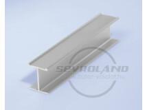 Sevroll 18 mm H osztóprofil 3 m ezüst