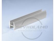 Sevroll H 10mm osztó profil 3m ezüst