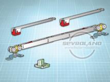 Terno Staffa Normale 40 kg görgőszett (2 fékkel, 732-1000 mm)