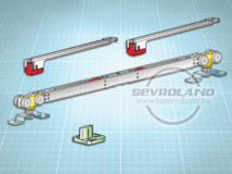 Terno Staffa Normale 80 kg görgőszett (2 fékkel, 850-1100 mm)
