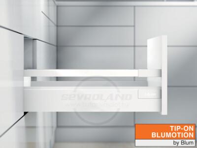 Blum TANDEMBOX Antaro B TIP-ON BLUMOTION selyemfehér fiók