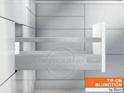Blum TANDEMBOX Antaro C TIP-ON BLUMOTION világosszürke fiók
