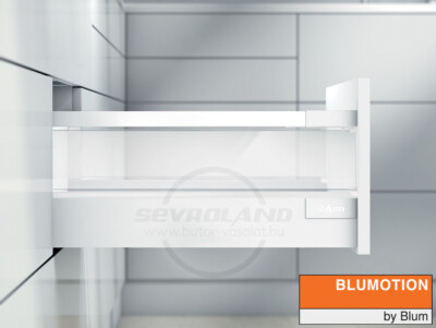 Blum TANDEMBOX Antaro D selyemfehér fiók átlátszó üveggel