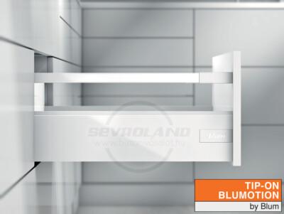 Blum TANDEMBOX Antaro D TIP-ON BLUMOTION selyemfehér fiók K kávával