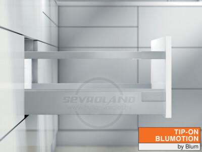 Blum TANDEMBOX Antaro D TIP-ON BLUMOTION világosszürke fiók