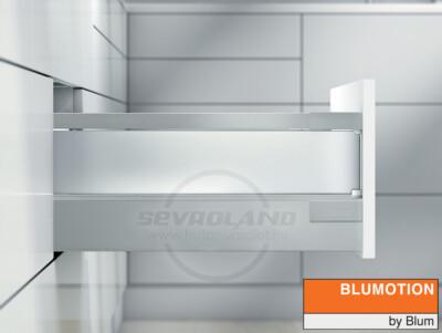 Blum TANDEMBOX Antaro D világosszürke fiók szatén üveggel