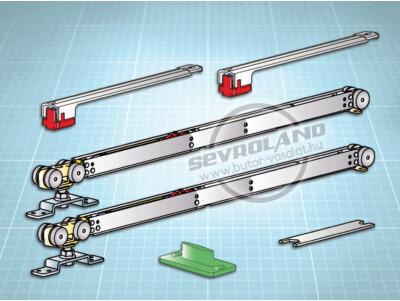 Terno Staffa Normale 120 kg görgőszett (2 fékkel, min. 1094 mm)