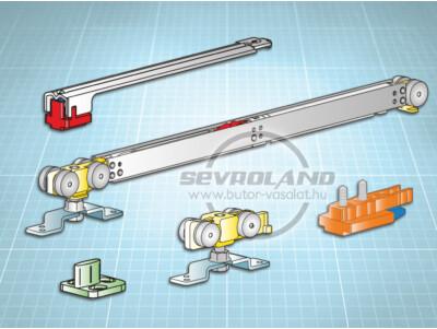 Terno Staffa Normale 40 kg görgőszett (1 fékkel, min. 600 mm)