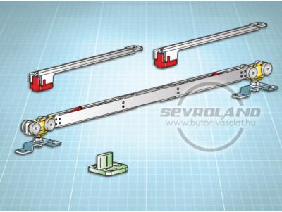 Terno Staffa Normale 80 kg görgőszett (2 fékkel, 732-1000 mm)